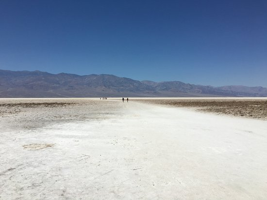 Badwater: View out from parking lot