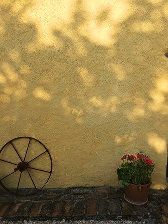 Sarnano, Italia: Villa san Raffaello - a wall