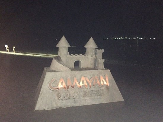 Camayan Beach Resort and Hotel: Sand castle!