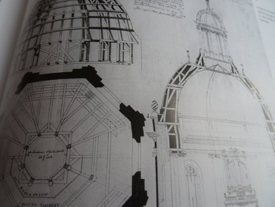Middelburg, Niederlande: de 17de eeuwse ontwerptekening van de 17de eeuwse Oostkerk