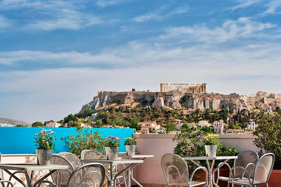 Arion Athens Hotel: rooftop acropolis view