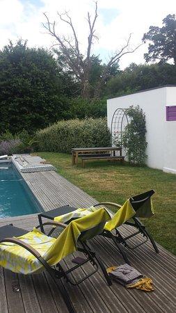 Tosse, Francia: tuin met zwembad