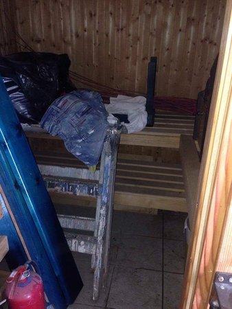 Margarita Hotel: Sauna abbandonata e inagibile