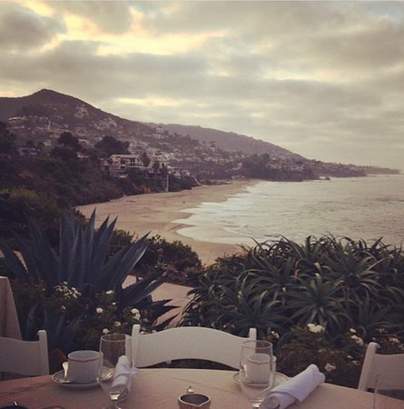 Montage Laguna Beach: view at breakfast on the lawn