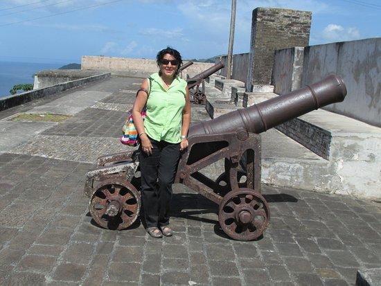 Fort Charlotte: Top of Fort Chartlotte, St. Vincent