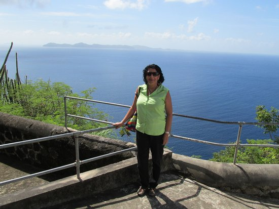 View at top of Fort Charlotte, St. Vincent
