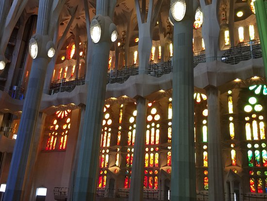 Julia Travel - Barcelona Day Tours : View of the choir seating inside Sagrada Familia