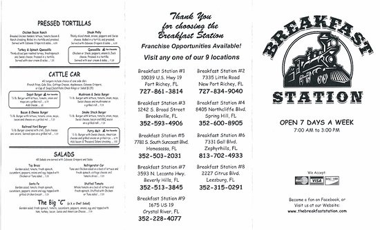 Leesburg, FL: Take away menu