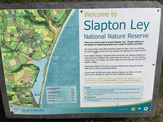 Slapton, UK: Information Board