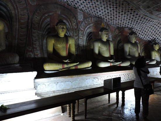 Dambulla, Sri Lanka: Alignement parfait