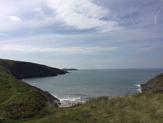 Mwnt Beach: Mwnt (with Cardigan Island in the distance)