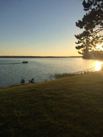 Cohasset, MN: Sunset over Sugar Lake