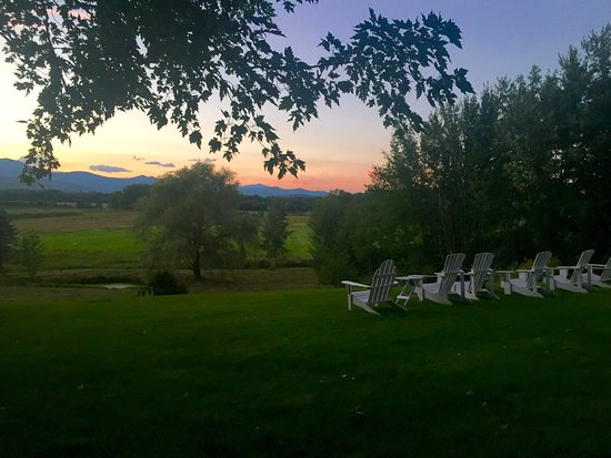 Fryeburg, Μέιν: View from back lawn/ back porch (August 2016)