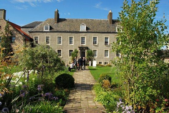 Prestonpans, UK: The imposing Cockenzie House in the summer sunshine