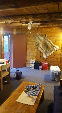 Blairmore, Canadá: Living Room with futon bed