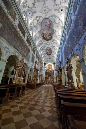 St. Peter's Abbey (Stift St. Peter): St Peter's Abbey with magnificent ceiling
