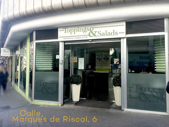 toppings and salads madrid calle del marques de riscal
