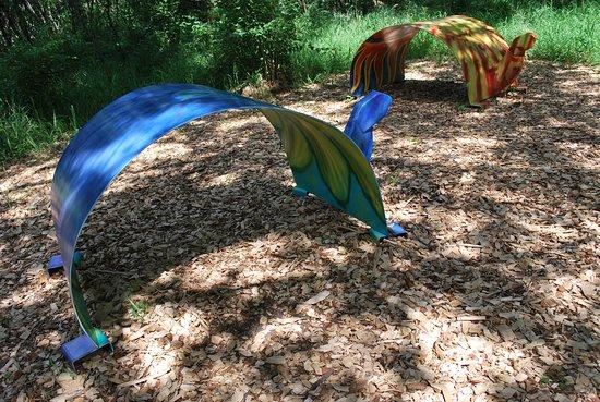 Nebraska City, NE: Tree Adventure - Art in the Woods exhibit