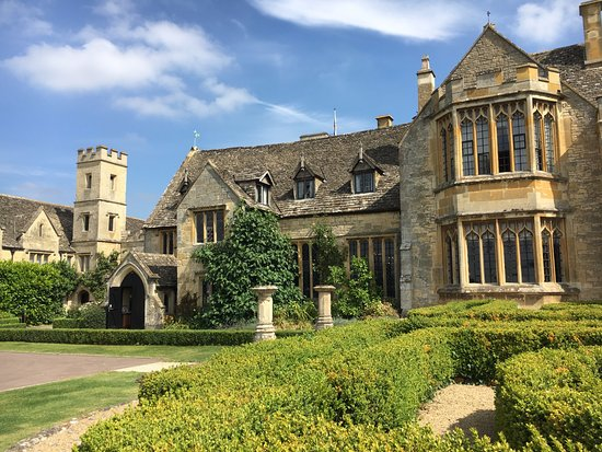 Ellenborough Park: The front of this gorgeous hotel. Interesting history, too.