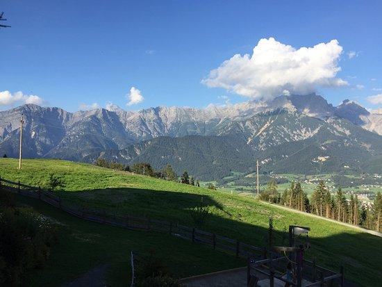 Saalfelden am Steinernen Meer, Avusturya: Ausblick von der Terrasse