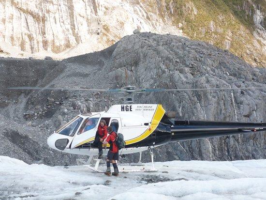 Franz Josef, Selandia Baru: El helicóptero te deja en medio del glaciar.