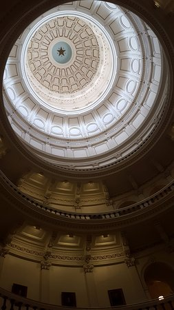 State Capitol: The star is 8 foot and some inches across