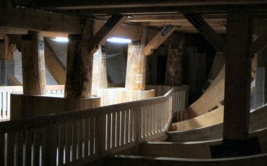 Walking under the Ark to the Entrance Ramp - Picture of Ark