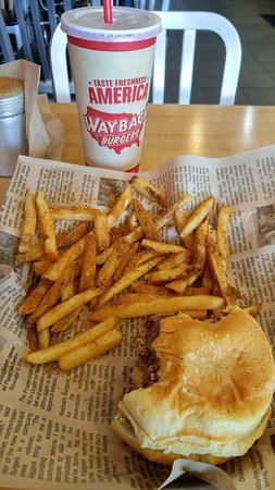 Ashburn, VA: Double cheeseburger meal