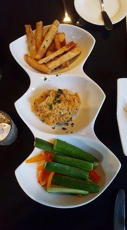 """Nirvana Grille - Laguna Beach: Best small plate: Truffle and Garlic Hummus with Pita """"Fries"""" - yum!"""