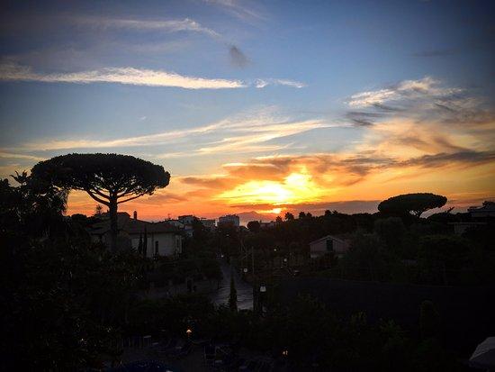 Alpha Hotel: Sunset over Capri