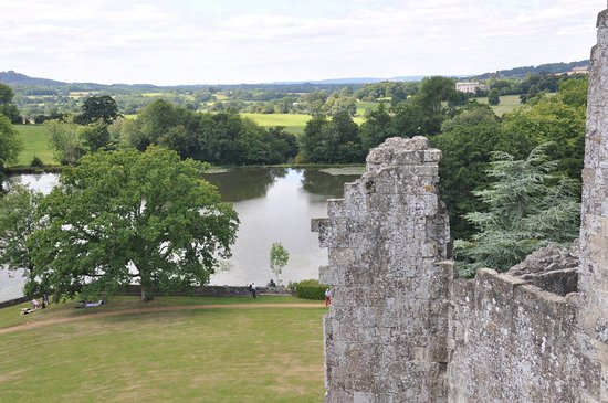 Tisbury, UK: View from the top of the Castle