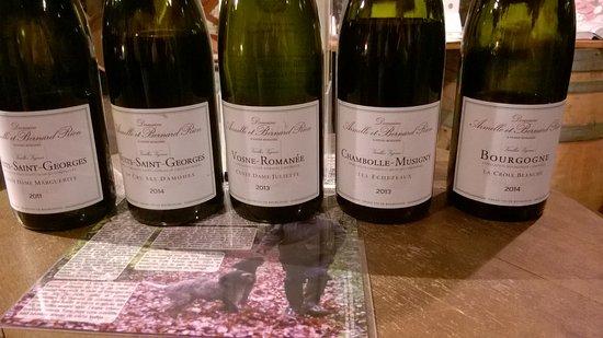 Vosne-Romanee, Frankreich: Vins degustés