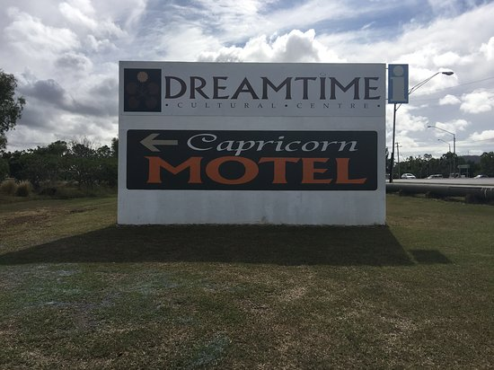 Capricorn Motel & Conference Centre: entry sign
