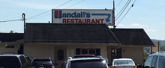 Perryopolis, PA: Randall's Restaurant taken from side parking lot
