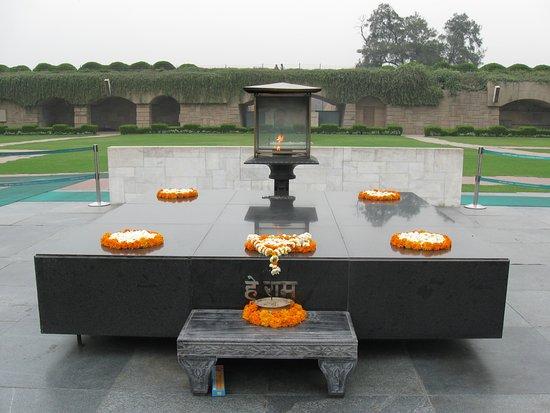 Gandhi Smriti: Gandhi Funeral Pyre platform.