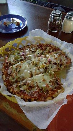 "Sand Bar: 9""pizza! Delicious!"