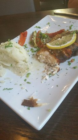 Rockville, MD: Very tasty trout, cooked to perfection and enough for 2. Great black bread too and $5 mimosas be