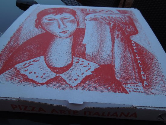 Even The Pizza Box Is Special Picture Of Ginos Venice Tripadvisor