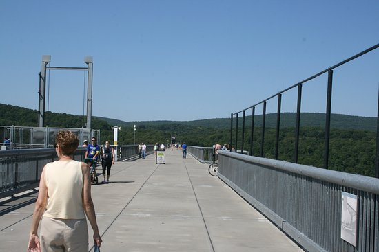 Poughkeepsie, NY: Approaching the elevator shaft on the left