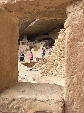 Mancos, CO : A peek through time - Great House view