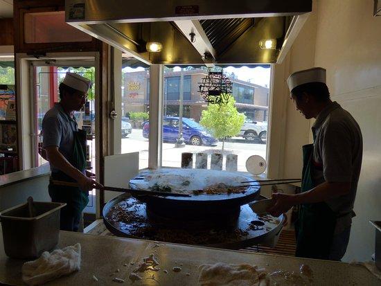 Sum's Mongolian Bar-B-Que Restaurant: Hard working cooks
