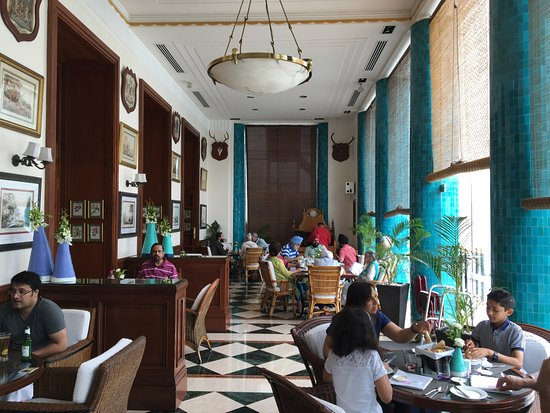 The Imperial Hotel: The famous breakfast room -such colonial distinction