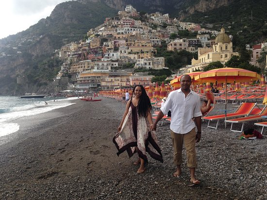 Best Limos in Rome Day Tours : Frederico, our driver, shot this pic of my wife and I, on the coast in Positano