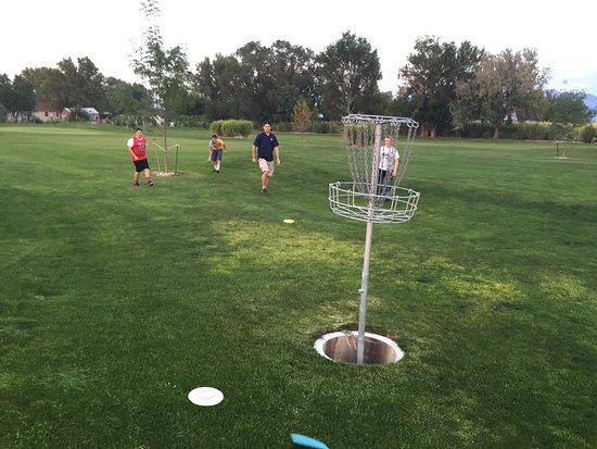 Clearfield, UT: Frisbee Golf and Foot Golf for $3! Great fun for youth group!