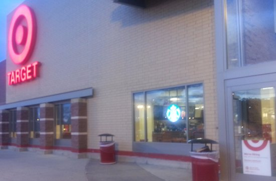 Front entrance to Target with Starbucks inside - Picture of ...