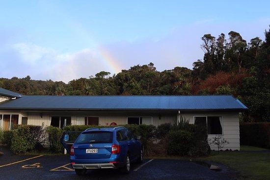 Ngati Ruanui Stratford Mountain House Hotel: Saying goodbye to Mt. Taranaki (from the car park)