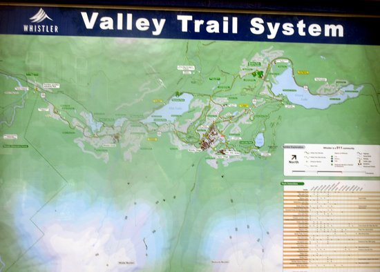 Map Valley Trail System Whistler British Columbia Picture Of