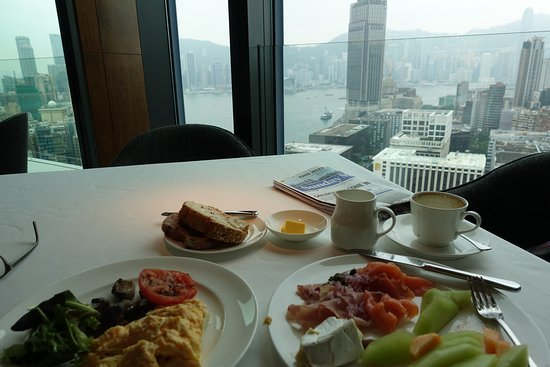 Breakfast And View From My Table Picture Of Hotel Icon Hong Kong