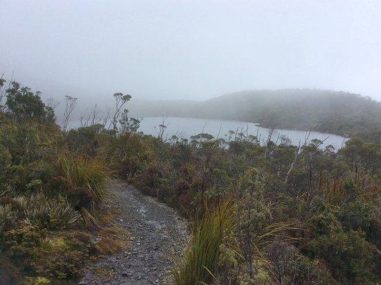 Huonville, Australia: Lake Osborne in the mist