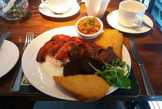 "Cults Hotel: This is a REDUCED version of my ""Full Scottish Breakfast"". Heart attack coming up!"